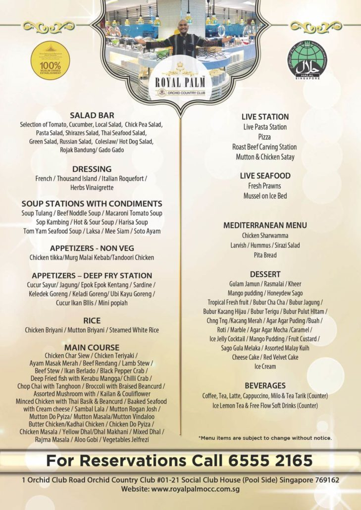 Buffet Lunch And Dinner Promotion | Royal Palm OCC Halal ...