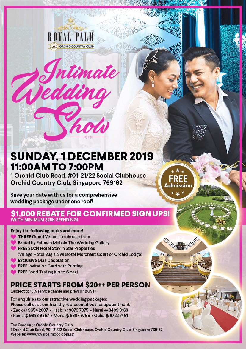Intimate Wedding Show RP OCC December 2019 Web