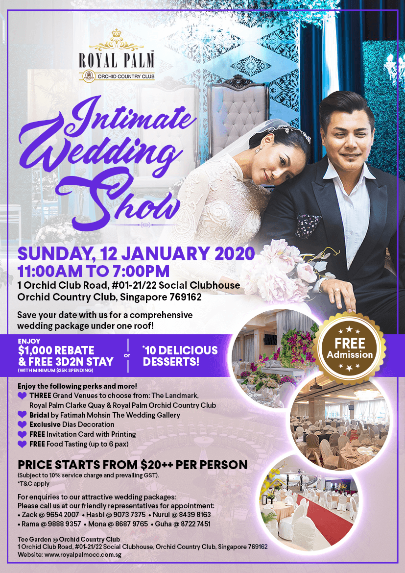 Intimate Wedding Show RP OCC January 2020 New Web